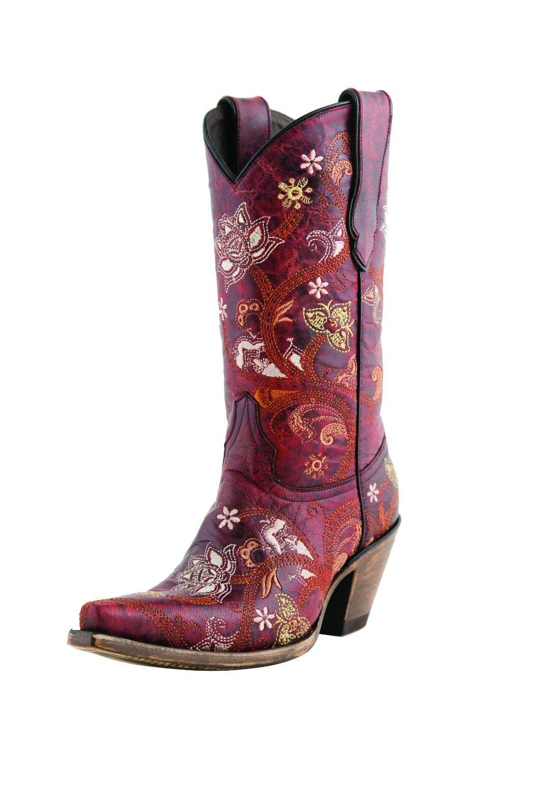 Lucchese Gardenia Floral Boot - Main Image