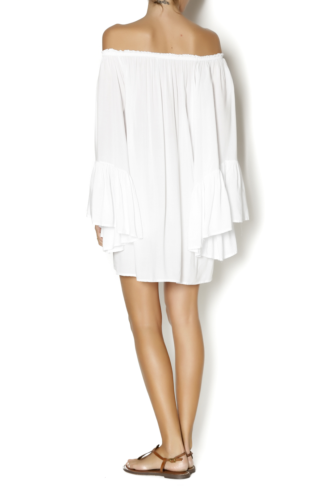 Elan White Boho Top - Side Cropped Image