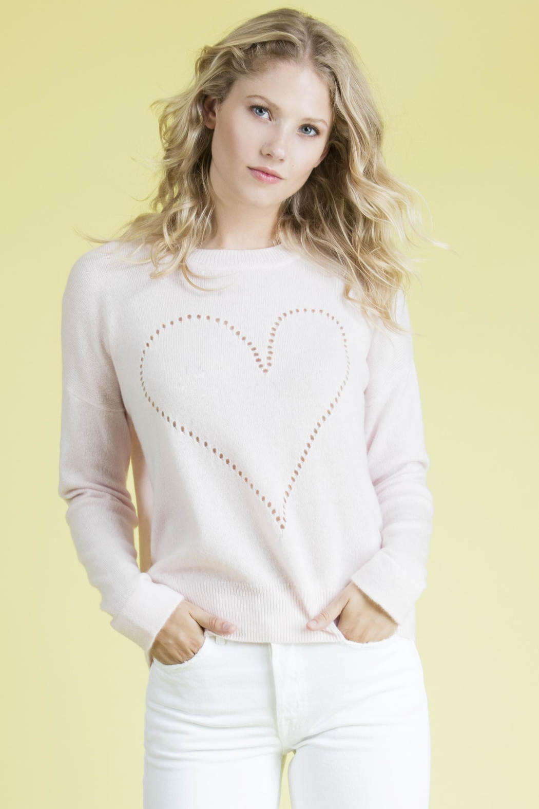 27 Miles Malibu Pointelle Heart Sweater - Main Image