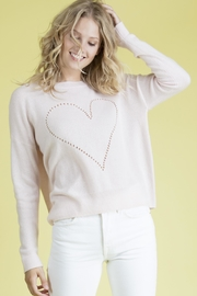 27 Miles Malibu Pointelle Heart Sweater - Front full body