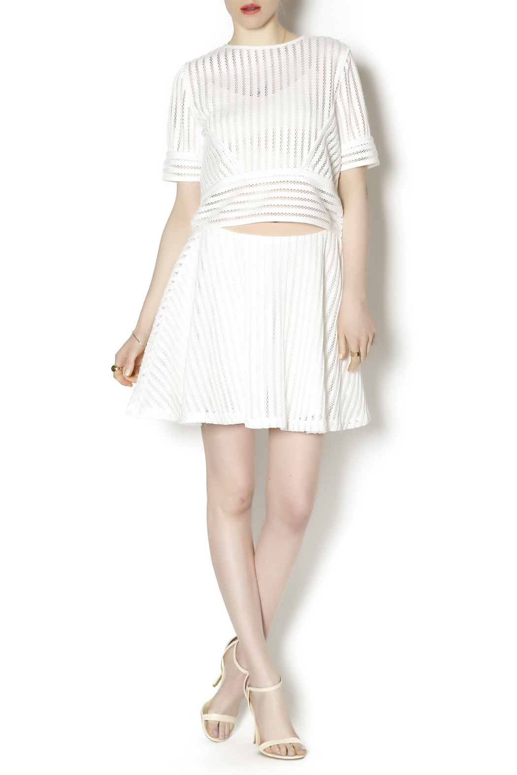 English Factory White Knit Two Piece - Front Full Image