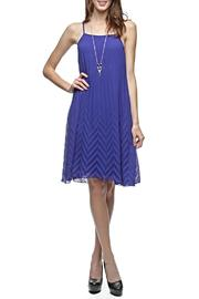 Ya Los Angeles Chevron Pleat Dress - Product Mini Image