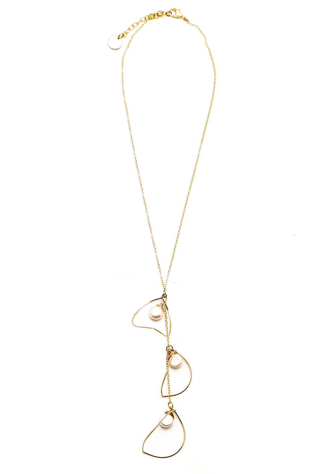 ZIA Boutique Luna Gold Necklace - Front Cropped Image