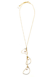 ZIA Boutique Luna Gold Necklace - Front cropped