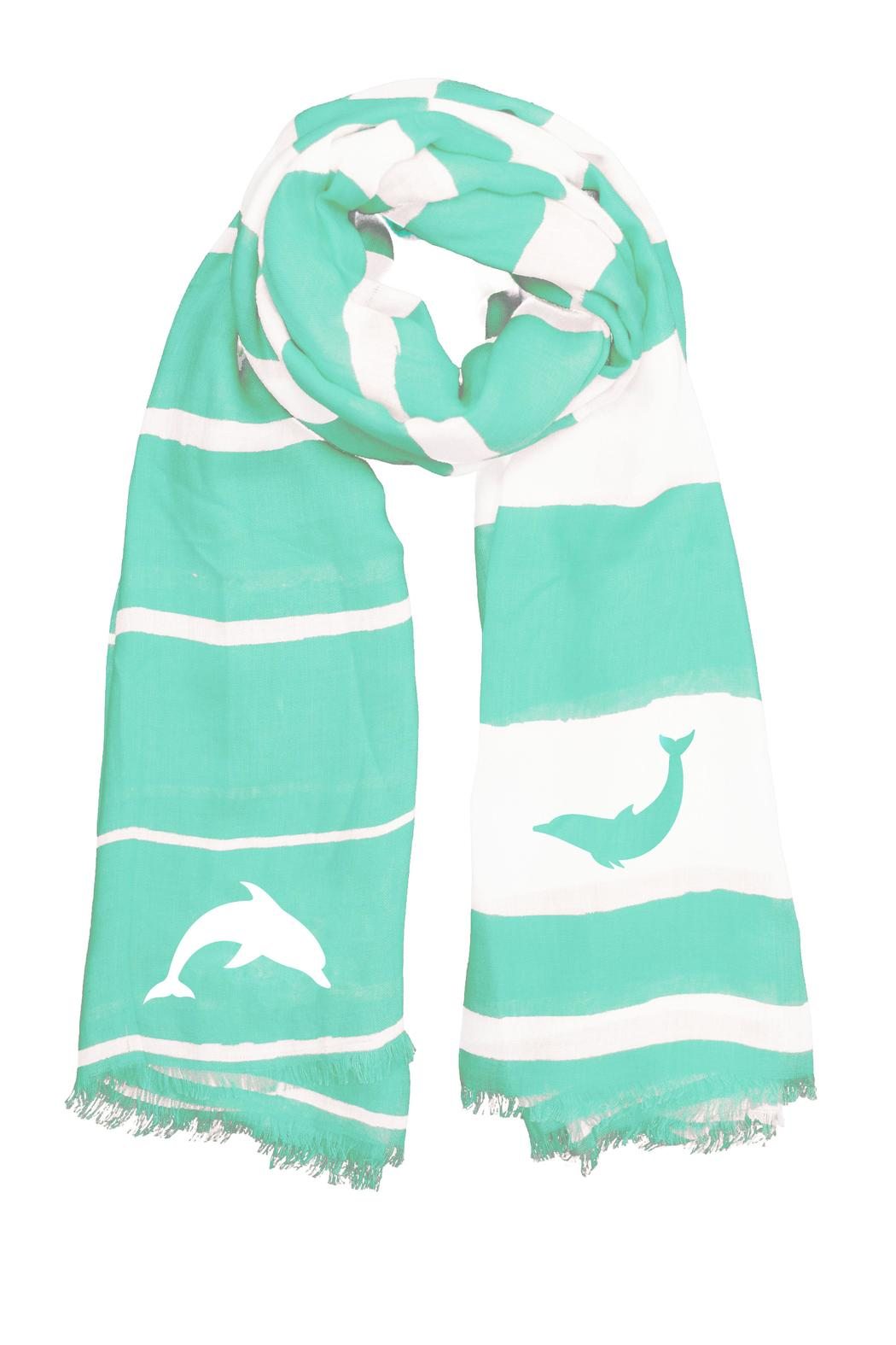 Winky Designs Mint-Green Dolphin Scarf - Main Image
