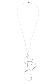 Shoptiques Product: Falling Leaf Silver Necklace