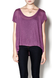 Knot Sisters Purple Off the Shoulder Top - Product Mini Image