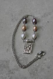 Lily Chartier Pearls Sterling Cameo Necklace - Product Mini Image