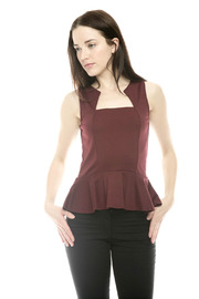 Shoptiques Product: Peplum Short-Sleeve Top