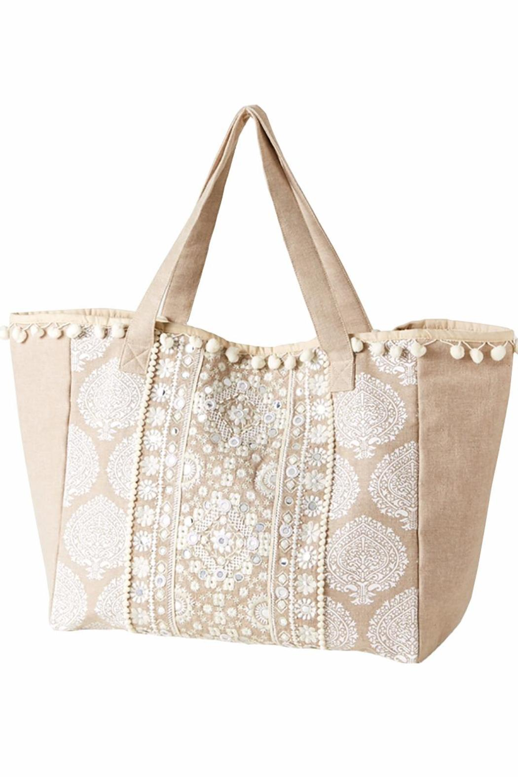 2 Chic Embroidered Tote Bag - Main Image