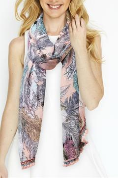 2 Chic Feather Embroidered Scarf - Alternate List Image