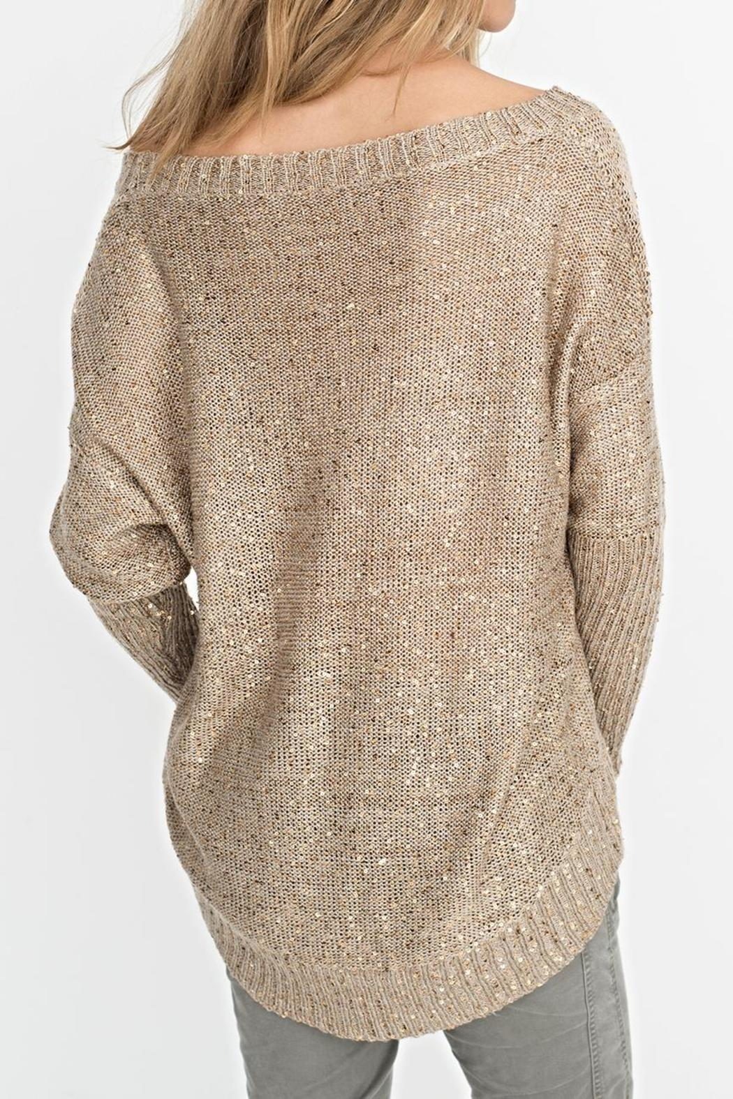2 Chic Gold Shimmer Sweater - Side Cropped Image