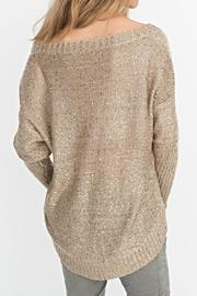 2 Chic Gold Shimmer Sweater - Side cropped