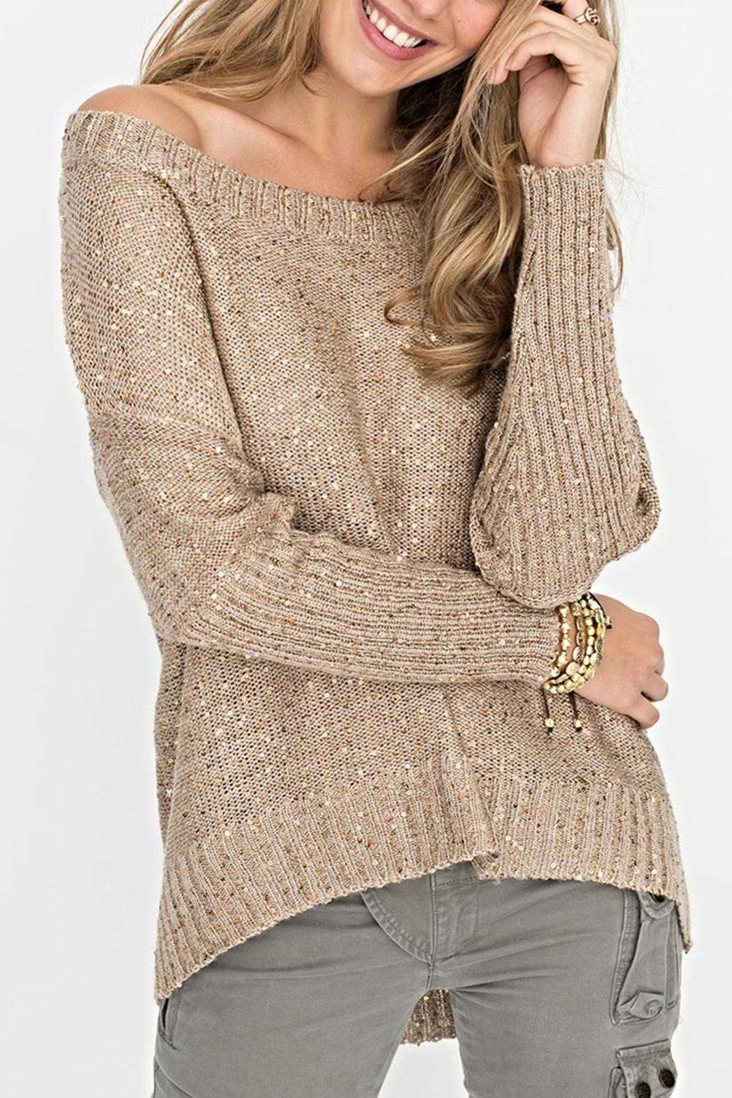 2 Chic Gold Shimmer Sweater - Main Image
