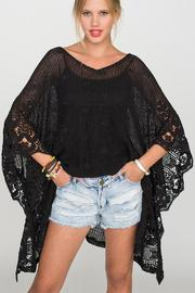 2 Chic Soft Lace Poncho - Back cropped