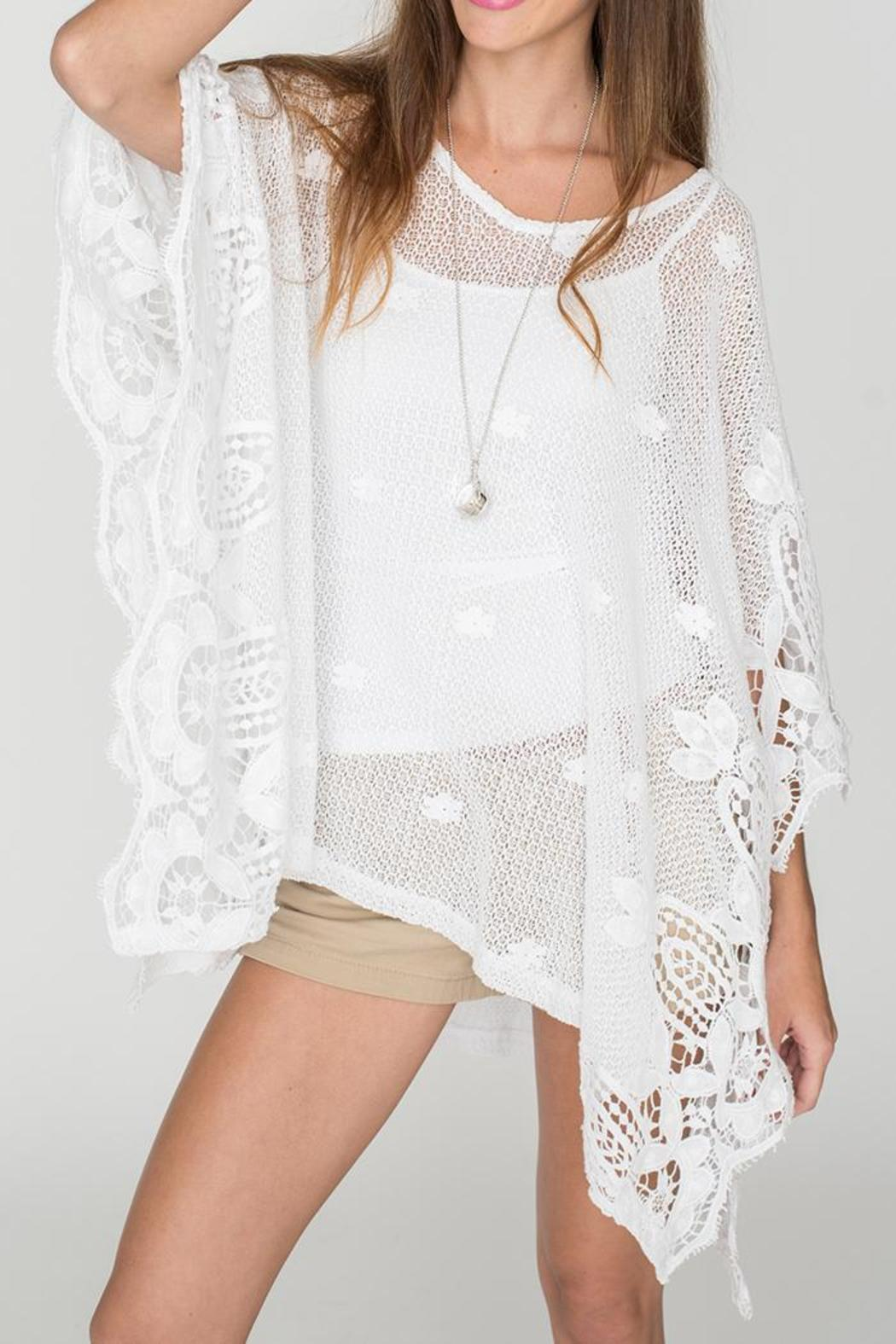 2 Chic Soft Lace Poncho - Front Cropped Image