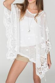 2 Chic Soft Lace Poncho - Front cropped