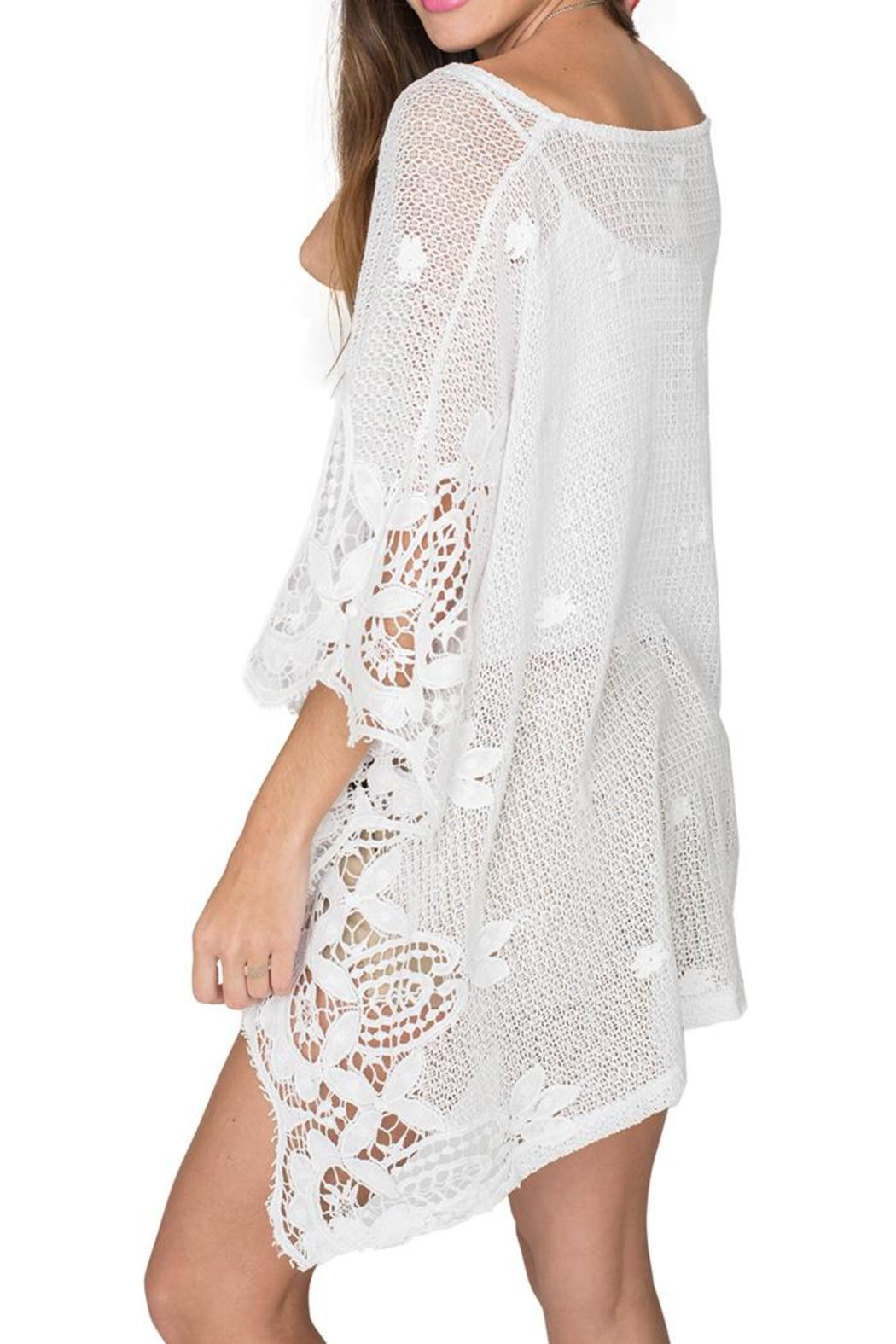 2 Chic Soft Lace Poncho - Front Full Image