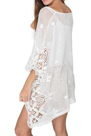 2 Chic Soft Lace Poncho - Front full body
