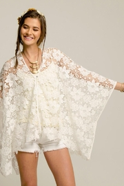 2 Chic White Lace Coverlet - Front full body