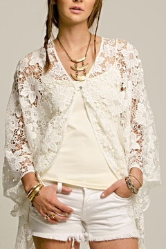 2 Chic White Lace Coverlet - Product List Image