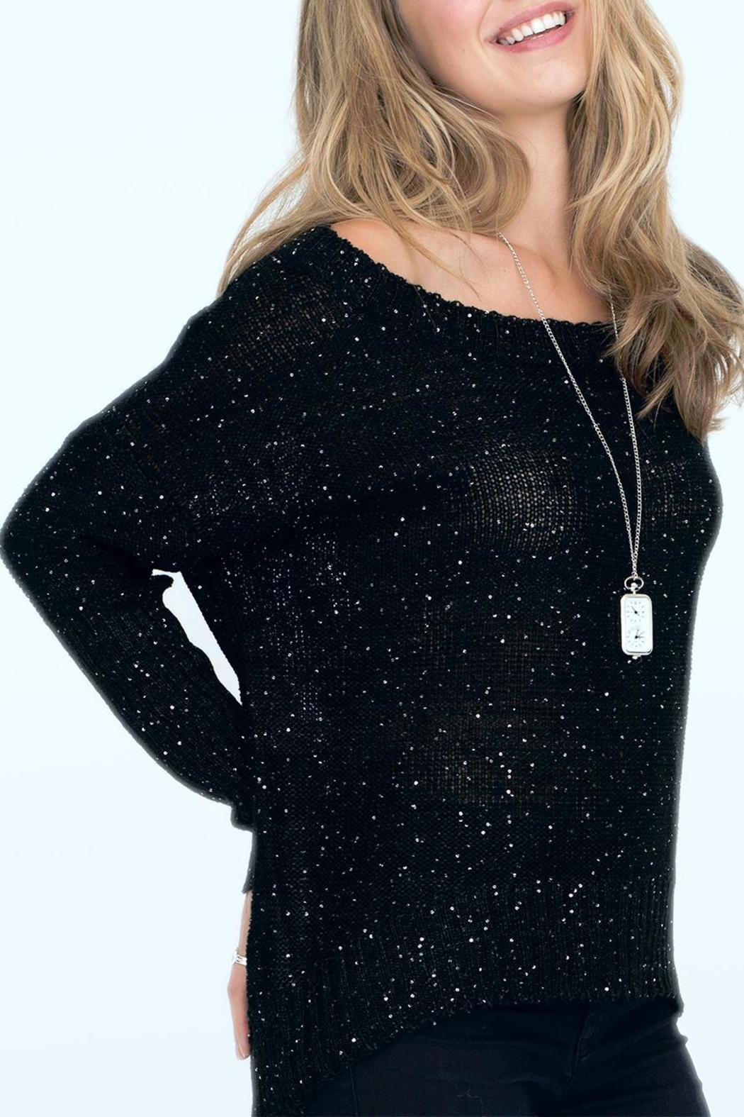 2 Chic Luxe Black Shimmer Sweater From Alexandria By Tu Anh Shoptiques
