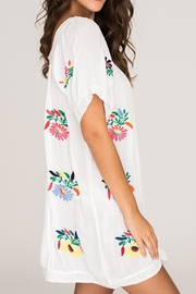 2 Chic Luxe Colorful Embroidered Sundress - Front cropped
