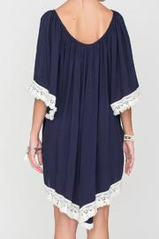 2 Chic Luxe Off-Shoulder Navy Dress - Side cropped