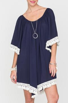 2 Chic Luxe Off-Shoulder Navy Dress - Product List Image