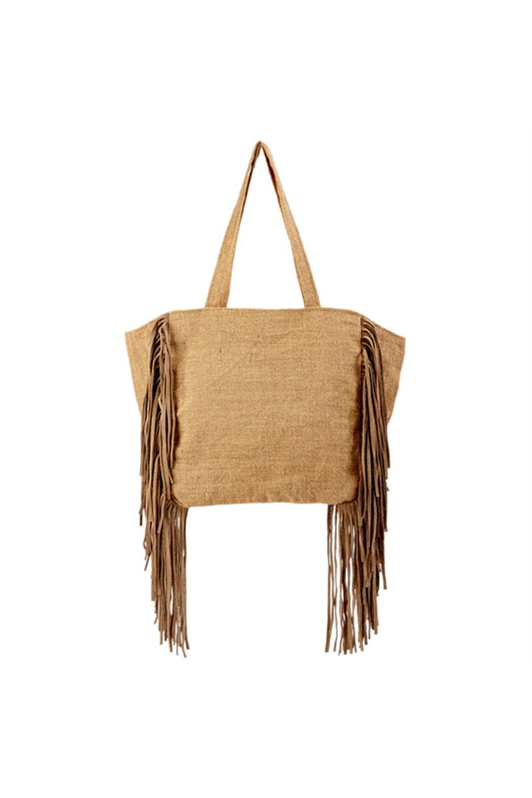2 Chic Luxe By Muche Et Muchette Leather Fringe Tote Back Cropped Image