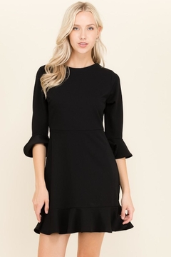 2 Hearts Black Ruffle Dress - Product List Image