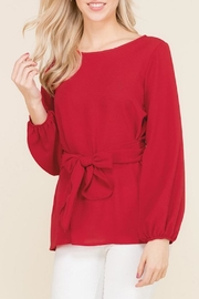 2 Hearts Bow Red Blouse - Product Mini Image