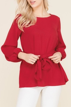 2 Hearts Bow Red Blouse - Alternate List Image