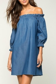 2 Hearts Cate Denim Dress - Front cropped