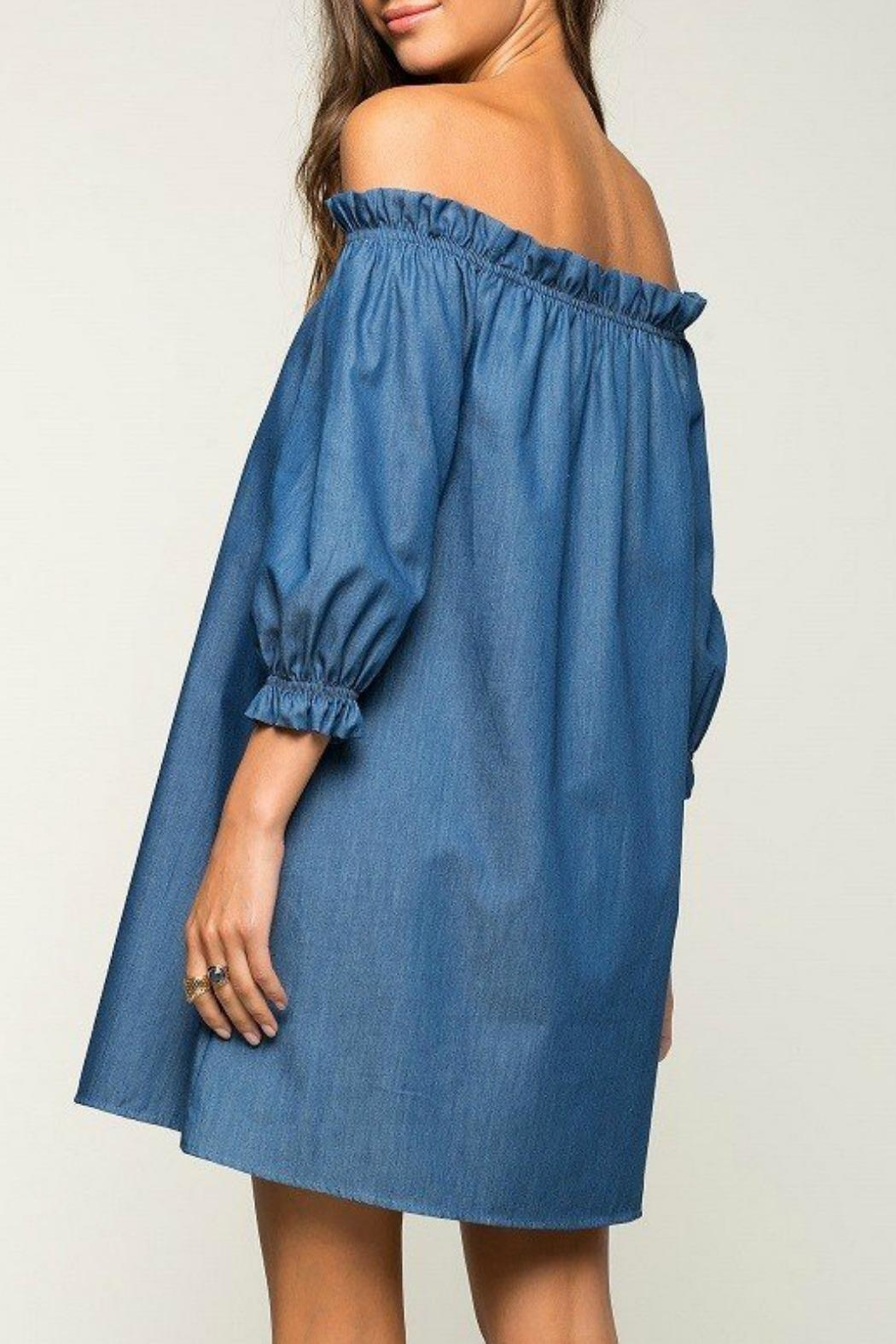 2 Hearts Cate Denim Dress - Front Full Image