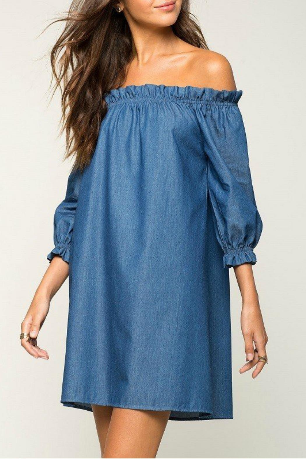 2 Hearts Cate Denim Dress - Side Cropped Image