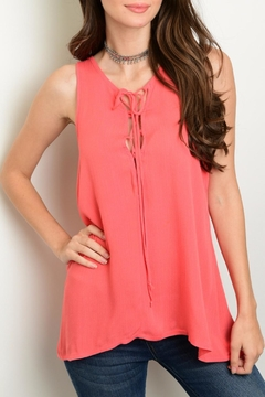 2 Hearts Coral Tie Tank - Product List Image