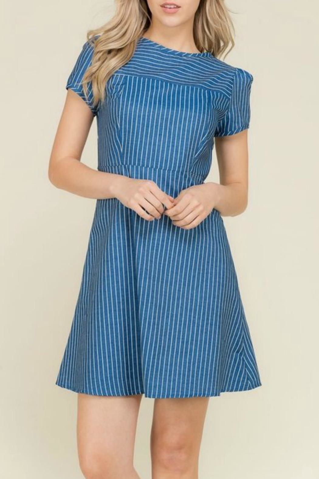 2 Hearts Katie Denim Dress - Front Cropped Image