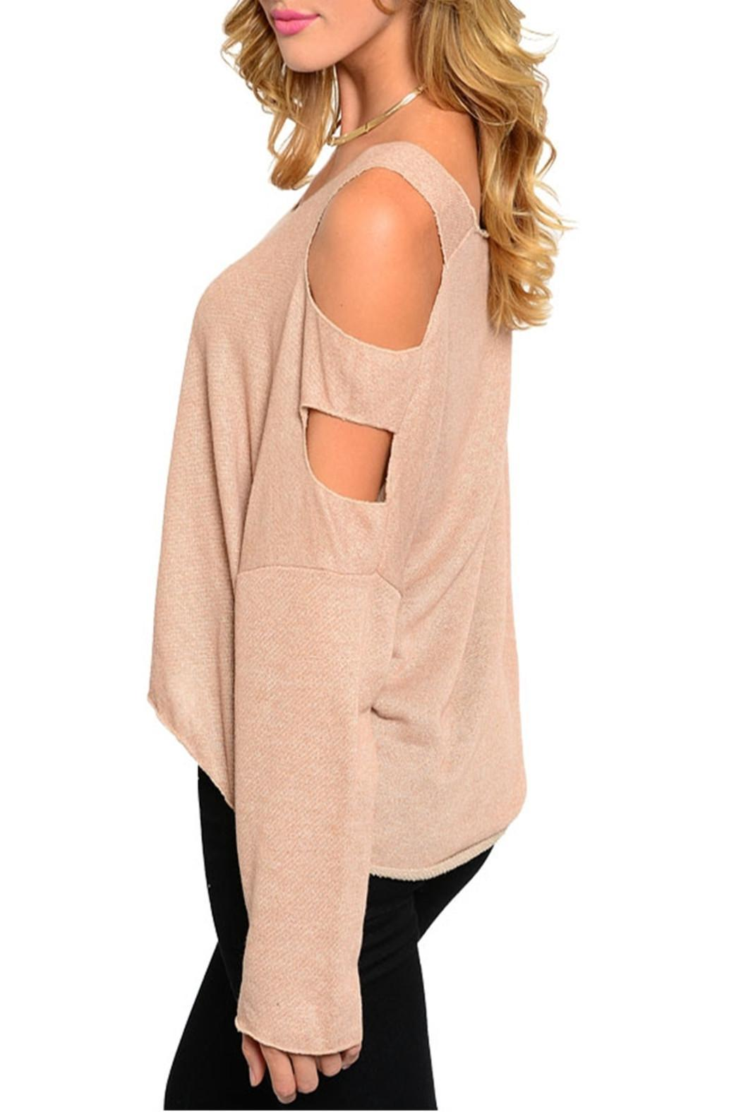 2 Hearts Nude Cutout Top - Front Full Image