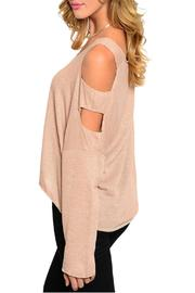 2 Hearts Nude Cutout Top - Front full body