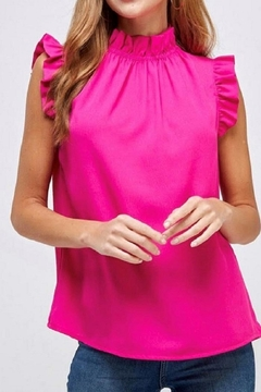 2 Hearts Pink Ruffle Blouse - Product List Image