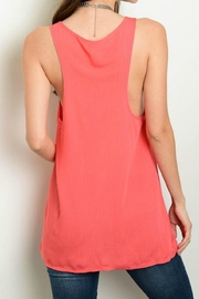 2 Hearts Pink Tie Tank - Front full body
