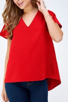 2 Hearts Red Shortsleeve Blouse - Alternate List Image