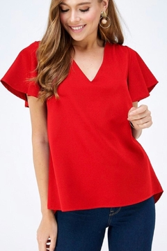 2 Hearts Red Shortsleeve Blouse - Product List Image