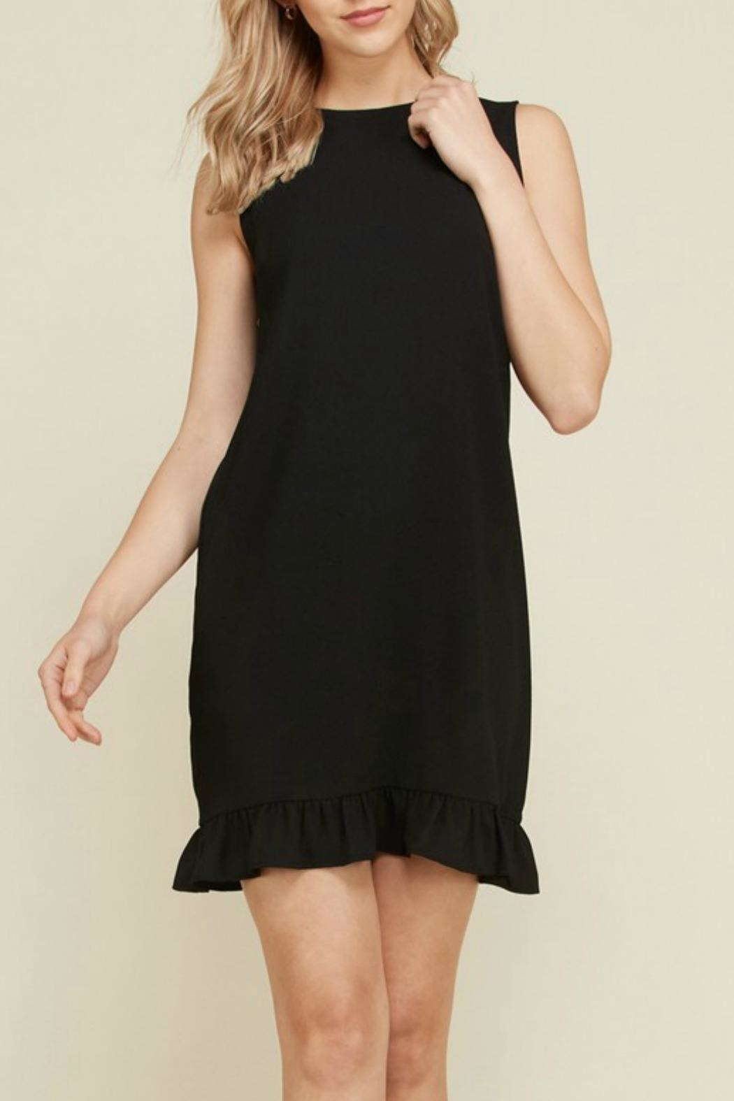 2 Hearts Trina Black Dress - Back Cropped Image