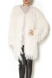 Selfie Couture Sweater Fringe Cardigan - Front cropped