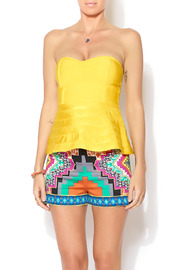 Wow Couture Sweetheart Flare Tube Top - Front cropped
