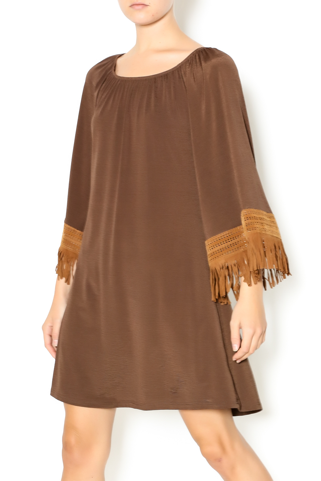 2B Together Fringe Sleeved Dress from Texas by Uptown Chic ...