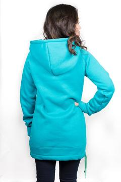 Shoptiques Product: Teal Hoodie Dress