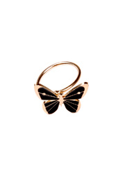 Emmanuelle Biennassis Butterfly-Shaped Adjustable Ring - Front cropped